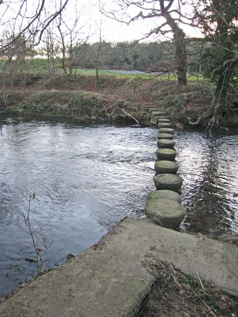 Stepping stones on the River Browney