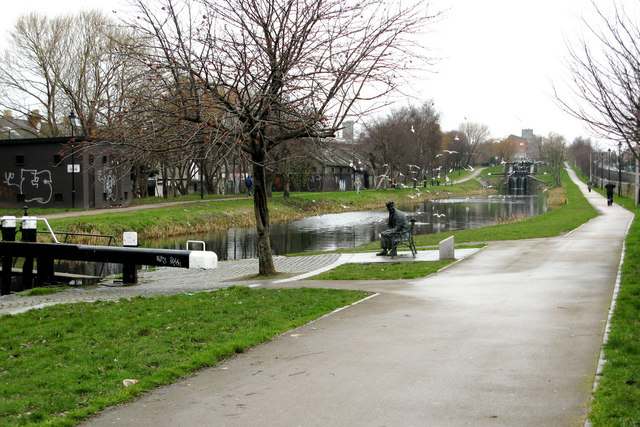 The Royal Canal at Drumcondra Road Lower,  Dublin, Ireland