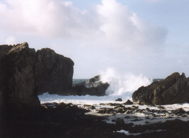 storm at Logie Head