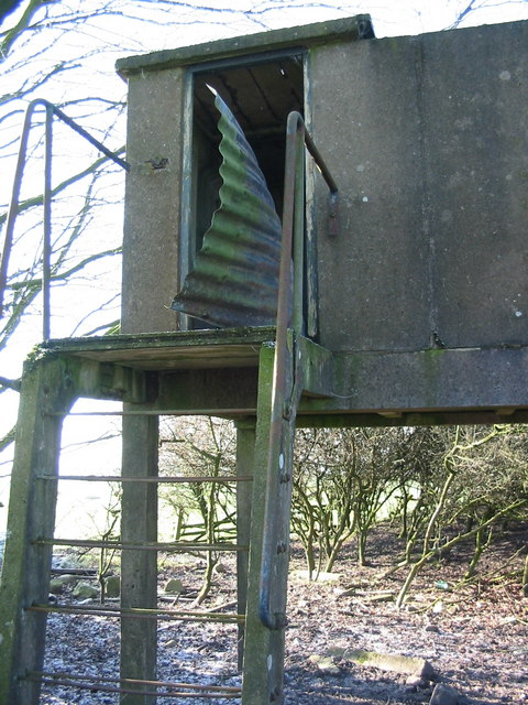 Close up picture of old ROC lookout Tower