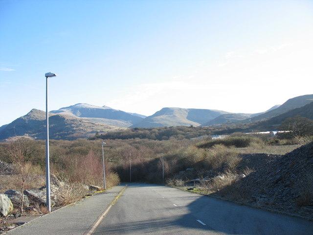Service road on the Glynrhonwy Development