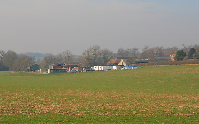 Tufton Warren Farm seen from end of byway