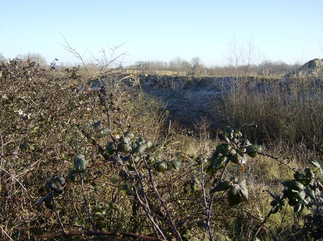 Gravel extraction north of motorway services
