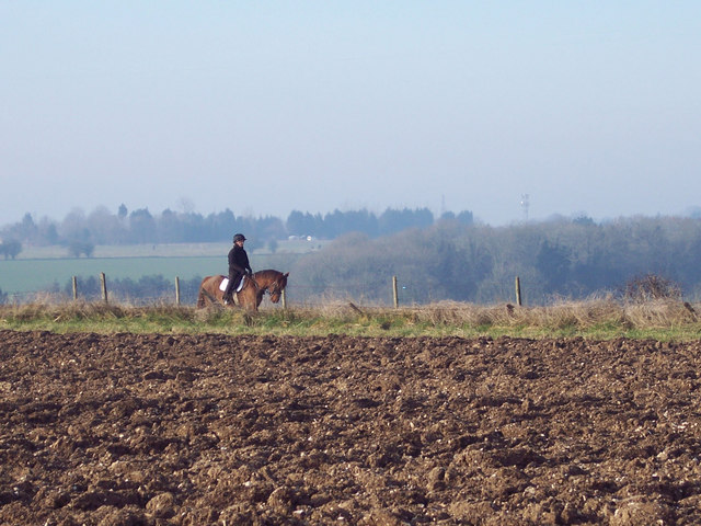 Rider on bridleway near Tottons Down Barn