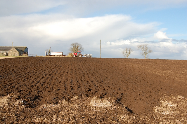 Field being ploughed