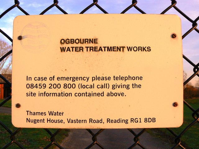 Water Treatment Works sign