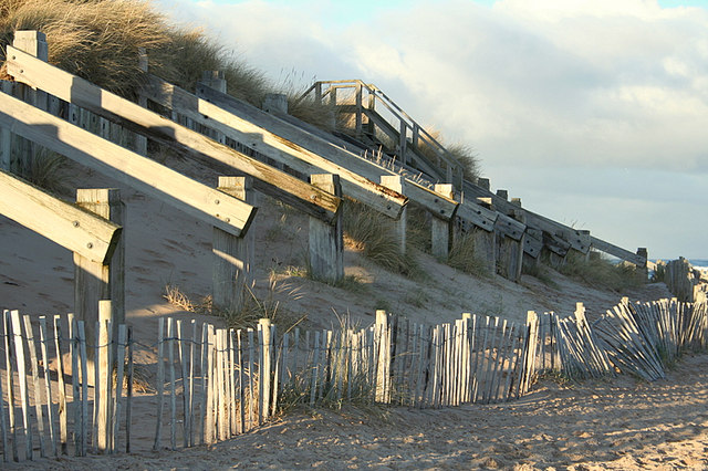 Anti dune- erosion measures on the East Beach..