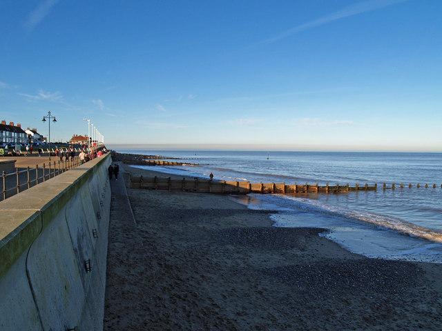 Hornsea Beach in February