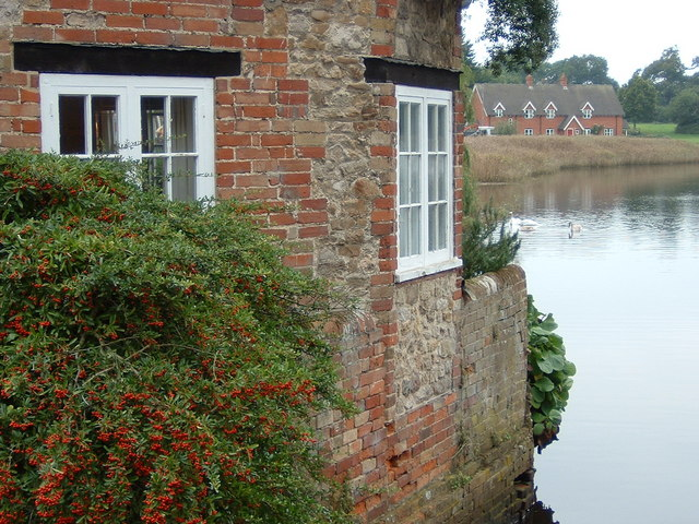 Cottages across the Mill Dam Pond at Beaulieu