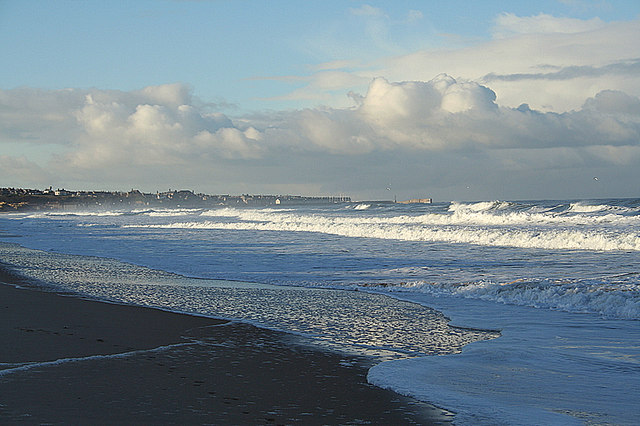 A Nor'westerly over the East Beach of Lossiemouth.
