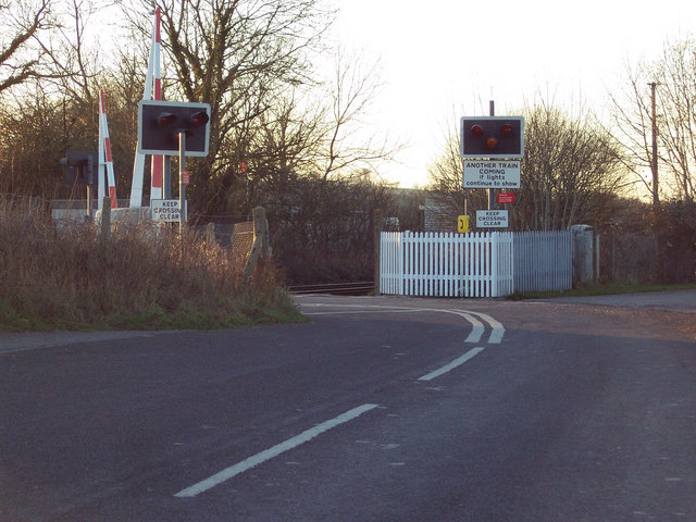 Level Crossing near Codford St Peter