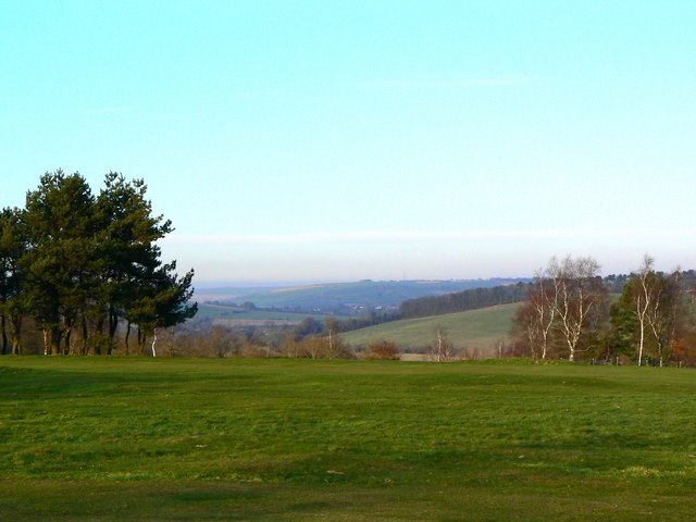A view to the north across Marlborough Golf Course