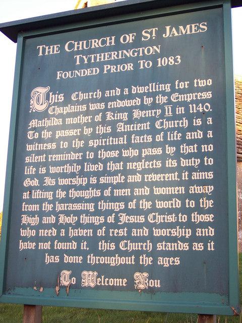 Information Board at St James Church