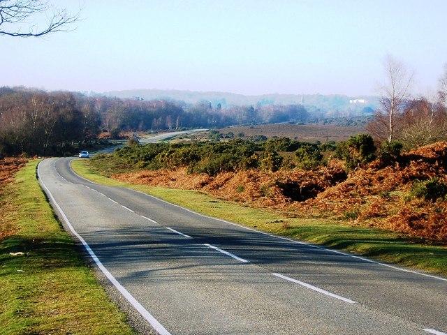 B3506 Looking towards Lyndhurst from Matley