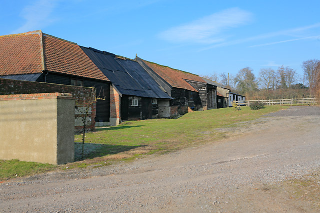 Older farm buildings at Tufton Warren Farm
