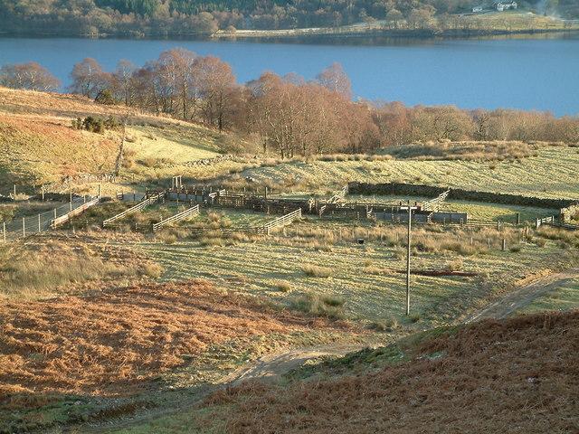 Sheep Wash above Milton of Callander with Loch Venachar below