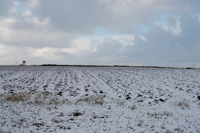 Ploughed field at Kincraig