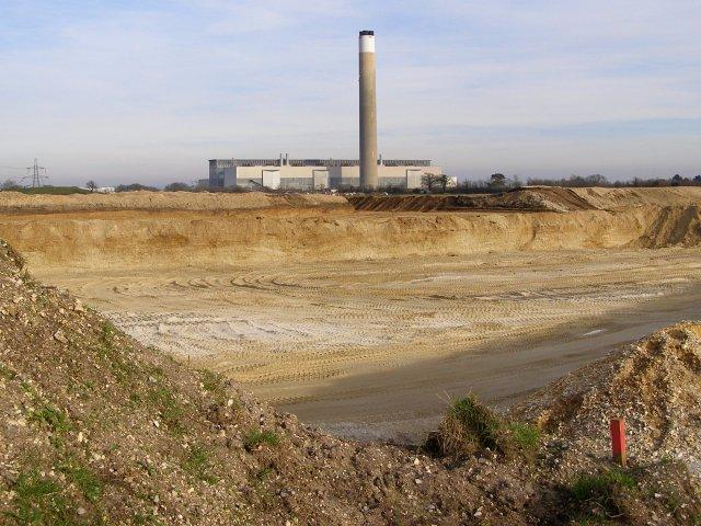 Sand and gravel extraction site, near Badminston Farm