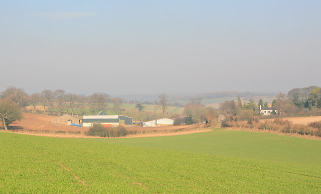 New Barn Farm seen from byway