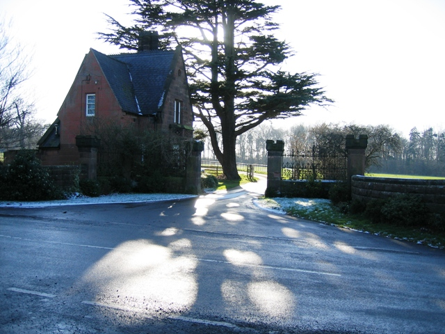 Lodge and Gate to Bolesworth Castle