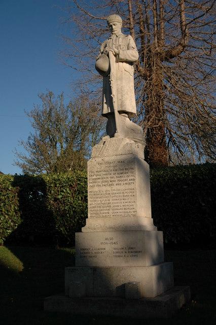 The War Memorial in Almeley
