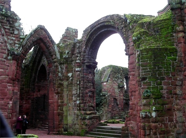 Ruins of Norman cathedral of St.John the Baptist, Chester