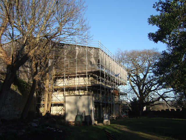 Castle Green House under restoration