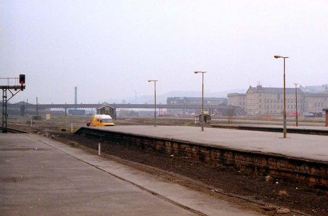 Disused railway yard
