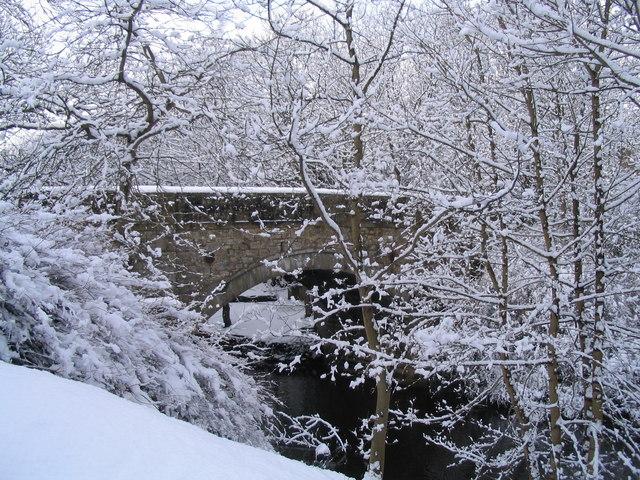 Currie Bridge in Winter