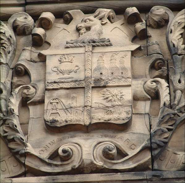 Fenton coat of arms at Fenton Town Hall