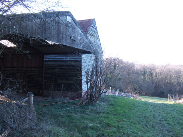 Farm buildings by Mere's Lane