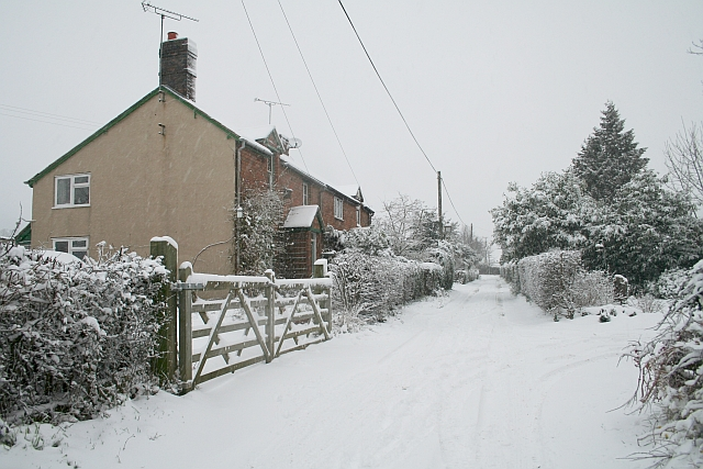 Watery Lane in the February Snow