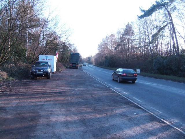 Lay-by on the A267 southbound