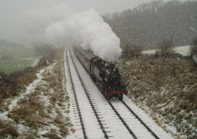 Great Central Railway in the snow