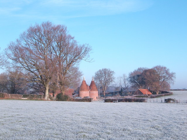 Earlye Farm on a frosty morning