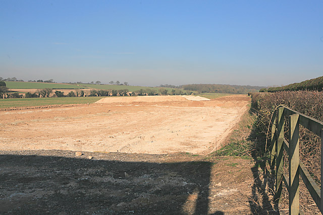 Foundations of new building at Upper Norton Farm