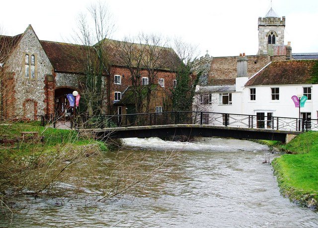 High Water by the Mill on the River Avon, Salisbury