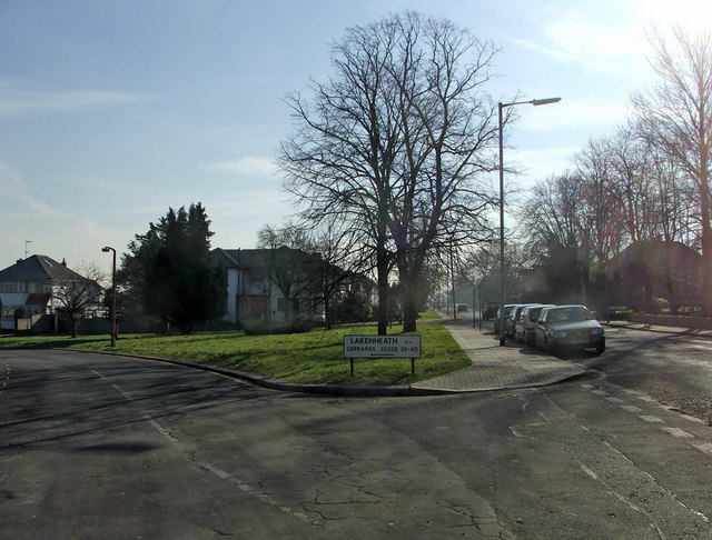 Junction of Lakenheath and Chase Road, London, N14