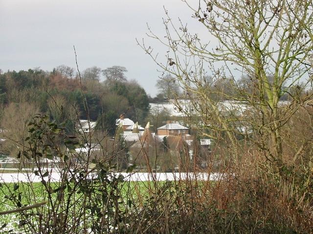 Elbridge Farm through the hedgerow