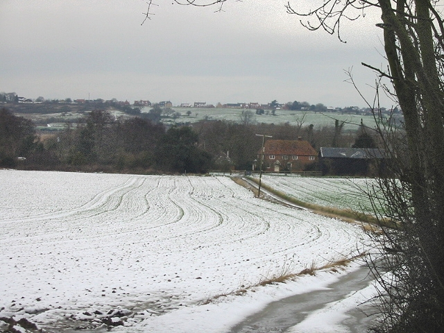 Greater Puckstone farm down an icy track