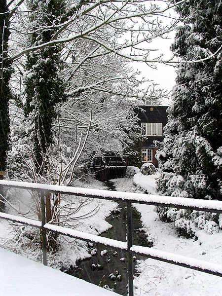 The Old Mill in Winter: Woolhampton