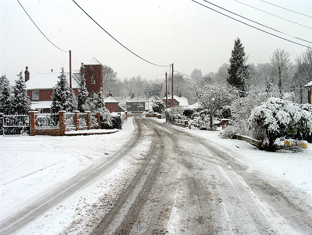 Station Road in the Winter: Woolhampton