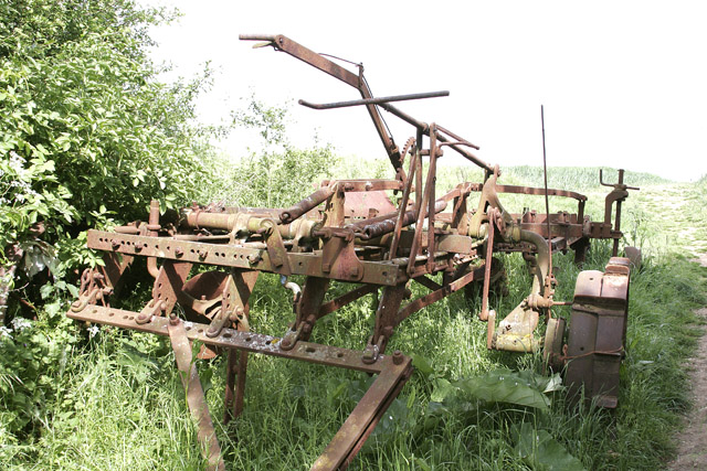 Abandoned farm machine