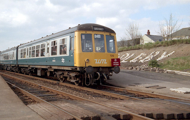 Railcar at Appleby in Westmoorland Station