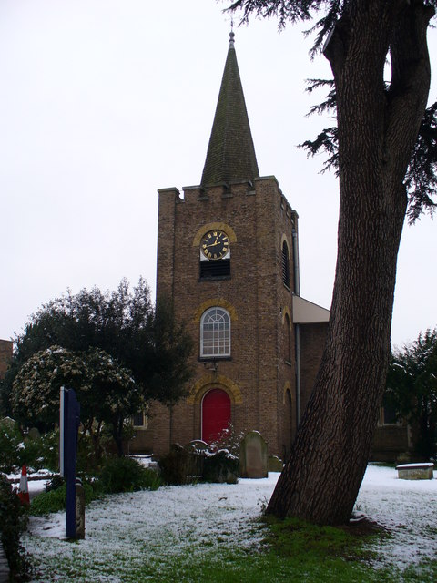 Snow-dusted St Dunstan's