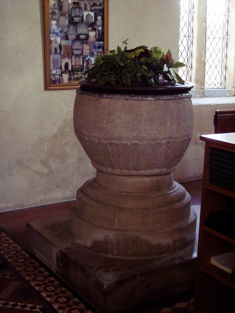 12th Century Bowl Font at St Marys Church
