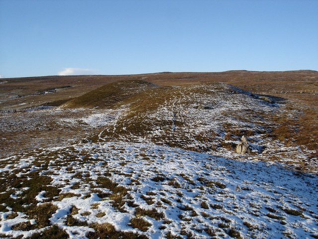 Hill line on moorland
