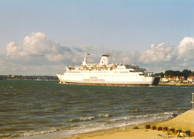 British Channel Island Ferry entering Poole Harbour