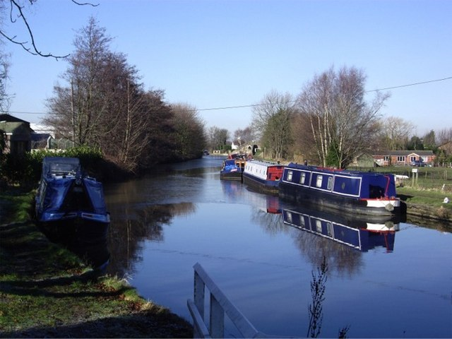 Narrow boats at Wheat Lane, Burscough