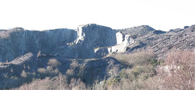 Upper Glynrhonwy Quarry from Lower Glynrhonwy Quarry